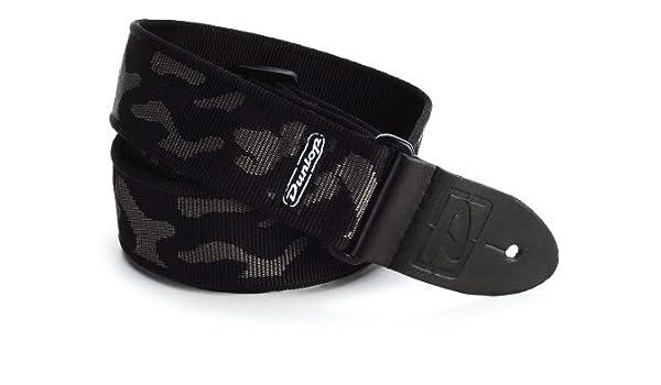 Amazon.com: CORREA GUITARRA ELECTRICA - Dunlop (D38 10) Camuflage (Gris) (Terminacion en Piel): Musical Instruments
