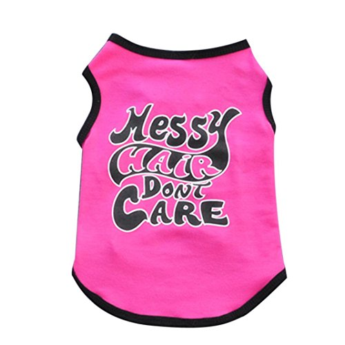 [Dreaman New Fashion Summer Cute Dog Pet Vest Puppy T Shirt Hot pink (M)] (Cute Female Dog Costumes)