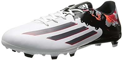adidas Performance Messi 10.3 Firm-Ground J Soccer Cleat (Little Kid/Big Kid), White/Sharp Grey/Light Scarlet, 10.5 M US Little Kid