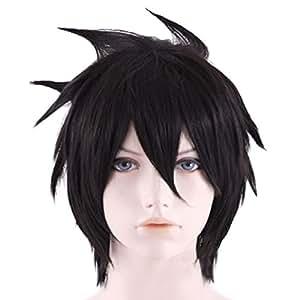 Xcoser Fairy Cosplay Tail Gray Anime Wig Hair for Halloween