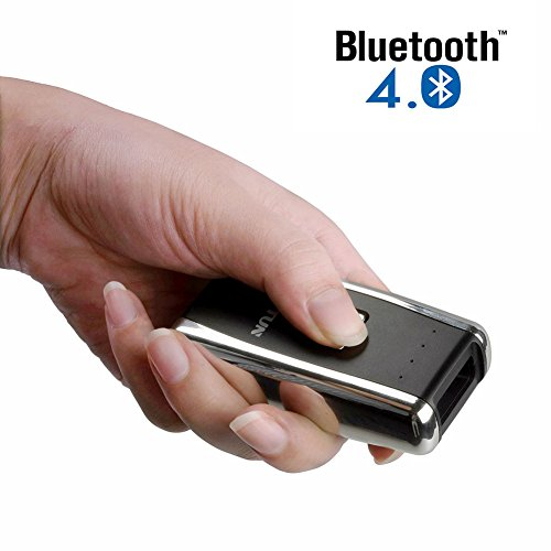 Deftun Mini Wireless Bluetooth 1D Laser Bar Code Scanner Reader with USB Rechargeable Support for Android, Apple iOS and Windows