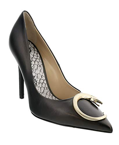 Roberto Cavalli Class Black Leather Classic High Heel Pump Shoes- for Womens