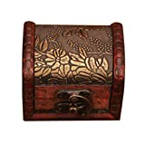 Wood Handmade Lock Box Storage Organizer Jewelry Bracelet Pearl Case Gift