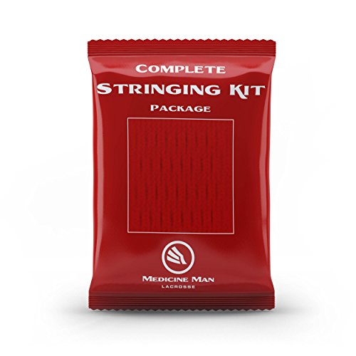 Complete Lacrosse Stringing Mesh Kit (Red)