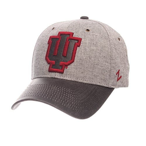 Zephyr NCAA Indiana Hoosiers Adult Men The Supreme Cap, Adjustable, Gray