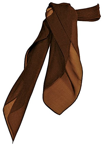 Brown Square Neck (TC 50s Shop Vintage Style Sheer Chiffon Square Neck Scarf (Brown))