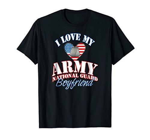 National Guard Veterans - Love US Army National Guard Boyfriend Shirt Dog Tag Women