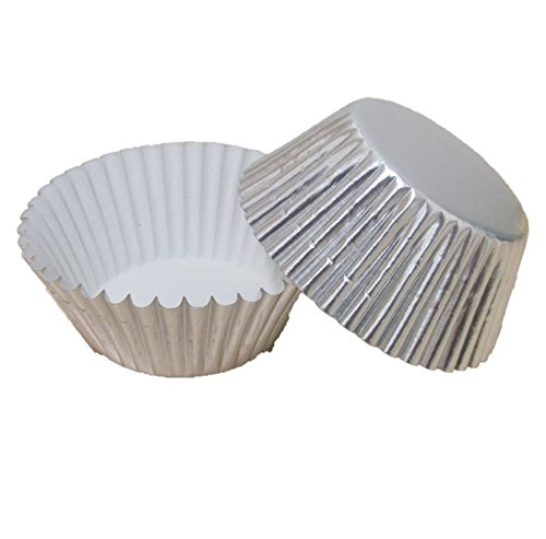 Premium Disposables 400 Silver Foil Cupcake Paper Baking Cups Metallic Muffin Liners Standard Size Cupcake Bakeware Supplies. by Premium Disposables (Image #8)