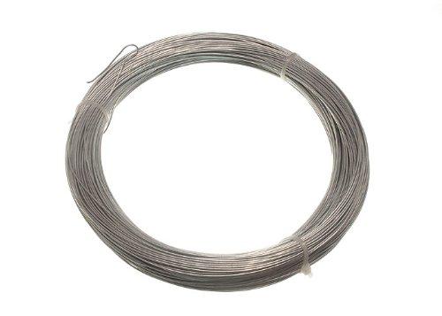 GALVANISED GARDEN FENCE WIRE 0.9 MM 100 METRES ( 20 rolls each 500g in weight )