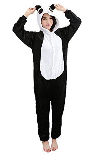 Panda Cosplay Pajamas Adult Unisex Onesies Animal Sleepwear Halloween Costume - http://coolthings.us