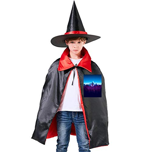 One of my Watchtowers in The Forest Halloween Shawl and Witch Hat for Children Kids Red ()