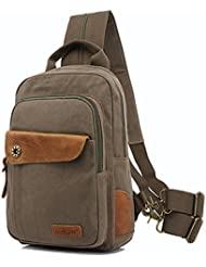 CLELO Mini Backpack Purse,Canvas Sling Rucksack Small Backpack