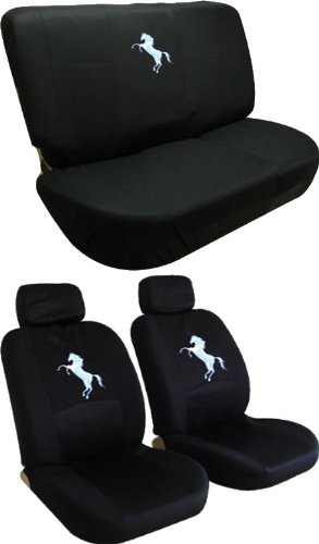Front Low Back Seat Covers And Bench Black Cover Set