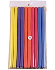 10 Pcs Random Color Hair Curlers Roll Stick Soft Sponge Hair Curling Roller Flex Silicone Magic Air Foam Roller Bendy Rod Hair Styling Tools