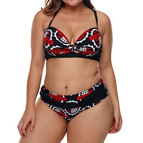 GUTTEAR Women Soild Push-Up Padded Bra Beach Bikini Set Swimsuit Beachwear Swimwear Red
