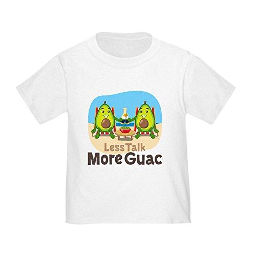 CafePress Emoji Avocado Less Talk More Guac Toddler T Shirt Cute Toddler T-Shirt, 100% Cotton White