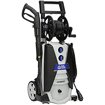Annovi Reverberi AR Blue Clean AR390SS 2000 psi Electric Pressure Washer with Spray Gun, Wand, 30' Hose & 35' Power Cord, Blue