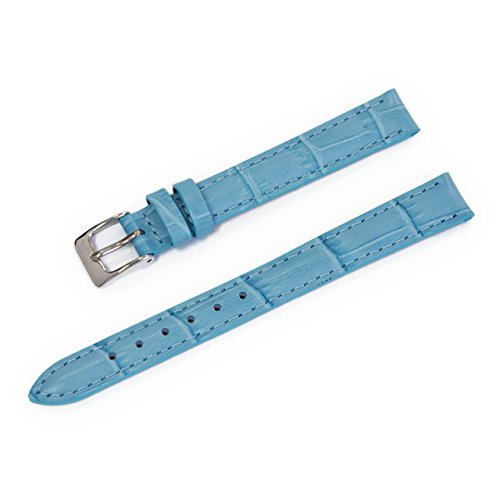 CASSIS Donna Croco Calf Genuine Alligator Embossed Calf Leather 11mm Pastel Blue with Tool D0000312268011M