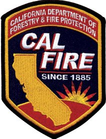 California Department of Forestry & Fire Protection Forest Wildfire Shoulder Patch - Size: 3-7/8 X 5