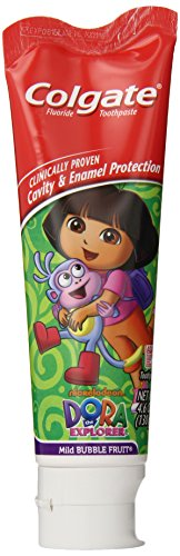 Care Products Flavored Toothpaste (Colgate Dora The Explorer Fluoride Toothpaste, Mild Bubble Fruit Flavor, 4.6 Ounce (Pack of)
