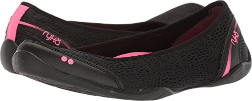 Ryka Women's Sandra Walking Shoe, Black/Pink, 8 M US from Ryka