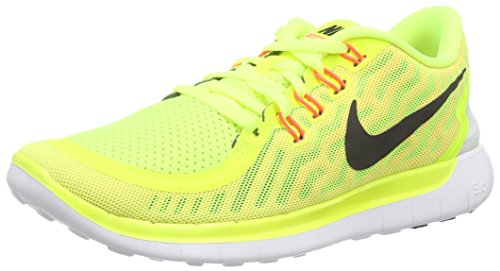 Nike Free 5.0, Zapatillas de Running Para Mujer Multicolor (Volt/Black-Lava Glow-Sunset Glow)