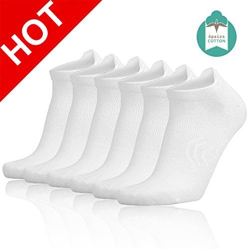 Zisuper Womens 6 Pack Running No Show Low Cut Socks with Antibacterial, Performance Hidden Athletic Sports Tab Sock (Low Sock Cut Womens Sport)
