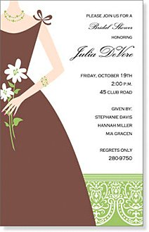 10 Say Yes to the Dress Invitations with white envelopes