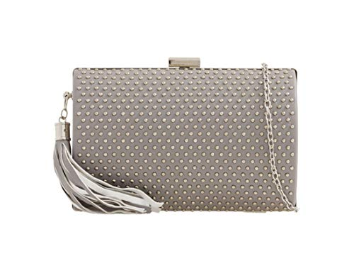 for Hard Diva Grey Clutch Grey Bag Compact Ladies Haute Studded 6qS7dwSI