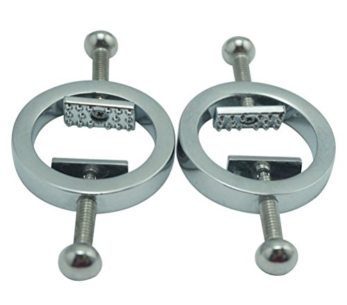 One Pair Heavy Nipple Clamps with Screw Adjustable Circle by PYK