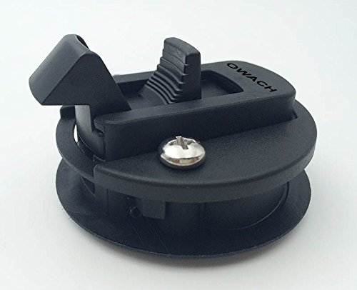 Slam Latch Hatch Round Pull Latch (OWACH AL-958-2) for 1/2'' Door Replace Southco M1-63 RV Marine Boat 2 3/8''D