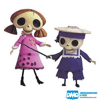 (Corpse Bride Skeleton Boy & Girl Japanese Import Collection Doll Set)