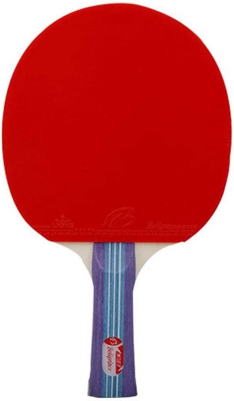 1 Balle JKHOIUH Raquette De Tennis avec Position Horizontale Rotulien De Raquette De Ping-Pong Professionnel Penhold