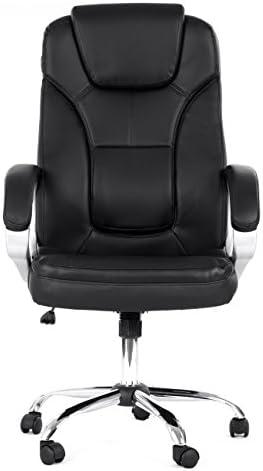 MY SIT Chaise de bureau Siège de bureau Fauteuil Design Noir Milano Deluxe avec accoudoir rembourrés