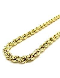 Cadena de oro de 10 quilates, 5,0 mm, corte de diamante, múltiples longitudes disponibles 45,72 cm - 76,2 cm, cierre de mosquetón