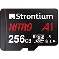 Strontium Nitro 256GB Micro SDXC Memory Card 100MB/s A1 UHS-I U3 Class 10 w/Adapter High Speed Smartphones Tablets Drones Action Cams (SRN256GTFU3A1A)