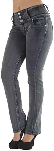 Style C582 – High waist Colombian style Butt lift stretch denim Boot Leg jeans