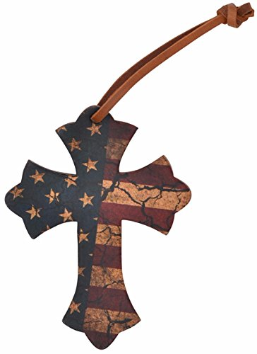 Crackle Distressed American Flag Leather Saddle Speed Cross Tie On Cowgirl Horse Faith