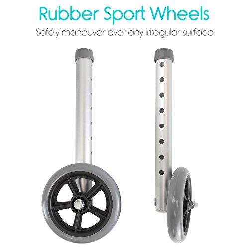 Walker Wheels And Ski Glides By Vive Walker Accessories