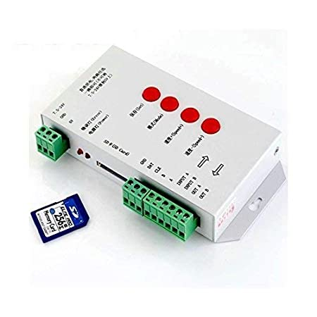 Narang S.ELECT206 LED Pixel Controller Support with 256 MB Memory Card  White  LED Bulbs