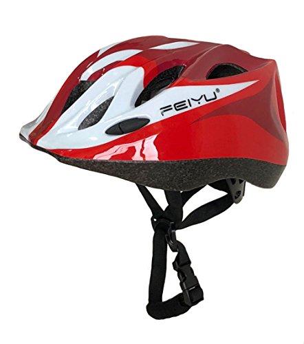 Seven Stones Kids MTB Road Mountain Bike Helmet Ultralight Safety Bicycle Helmet Children Cycling Multisport protective Helmet-red