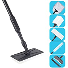 Hygger Oversize 5 in 1 Aquarium Cleaning Tool Kit is a great cleaning tool designed for large, tall aquarium and koi pond which could reach up to 3.9ft deepth water. Keeping your aquarium clean and shiny. It's interchangeable head gives you f...