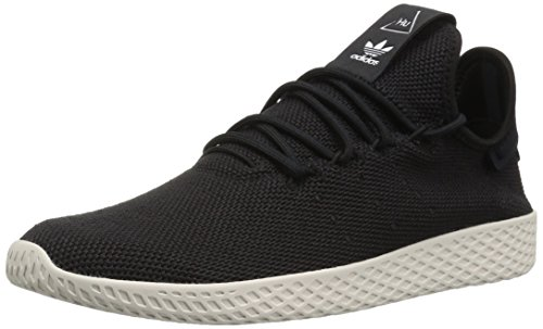 (adidas Originals Men's Pharrell Williams Tennis HU Running Shoe, Black/Chalk White, 9.5 M US)