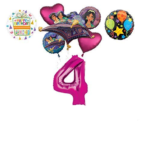 Mayflower Products Aladdin 4th Birthday Party Supplies Princess