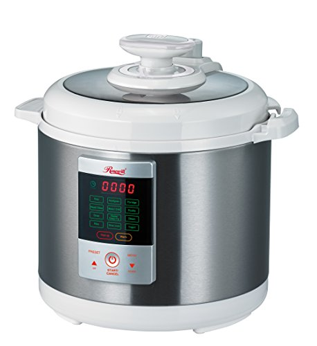 Rosewill 7-in-1 Electric Multi-functional Programmable Pressure Cooker 6L / 6Qt 1000W  Stainless Steel RHPC-15001