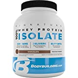 BodyBuilding.Com Signature 100% Whey Protein Powder | Chocolate Isolate | 25g of Protein per Serving | 3 lbs