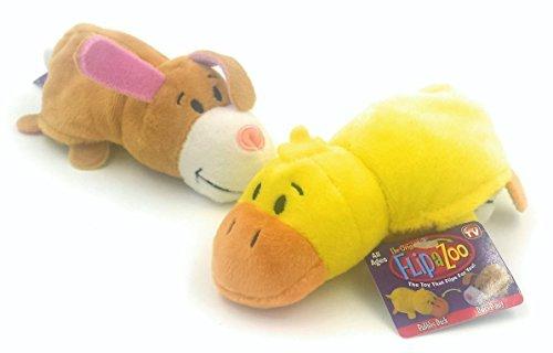 FlipZees the 5 Inch FlipaZoo Transforming Plush Bubbles Duck / Daisy Bunny