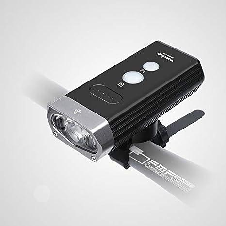 letaowl Luz de Bicicleta 1800 lúmenes Banco de luz Impermeable USB ...