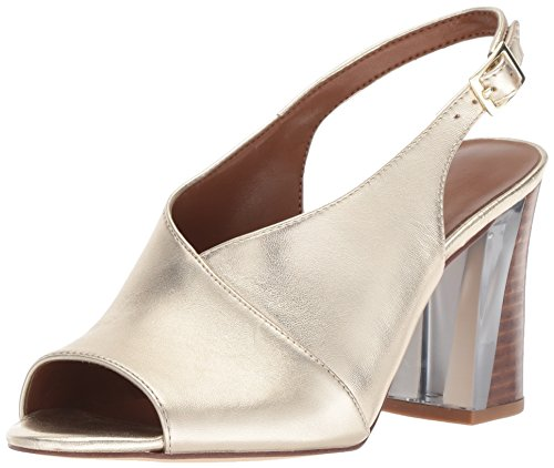 - Nine West Women's MORENZO Heeled Sandal, Light Gold, 8.5 M US