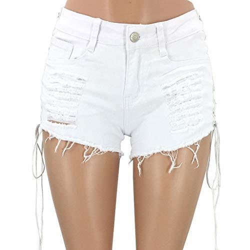▶HebeTop◄ Women's Denim Cut Off Shorts Sexy Destroyed Ripped Short Jeans Mini Hot Pants Clubwear